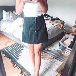 American Apparel black jean skirt